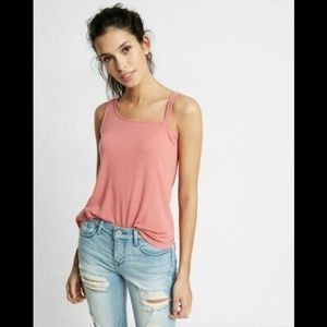 Express One Shoulder Thick Strap Cami Tank Top M